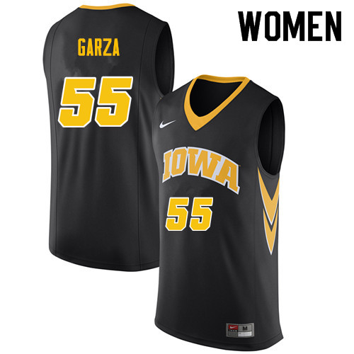 Women #55 Luke Garza Iowa Hawkeyes College Basketball Jerseys Sale-Black